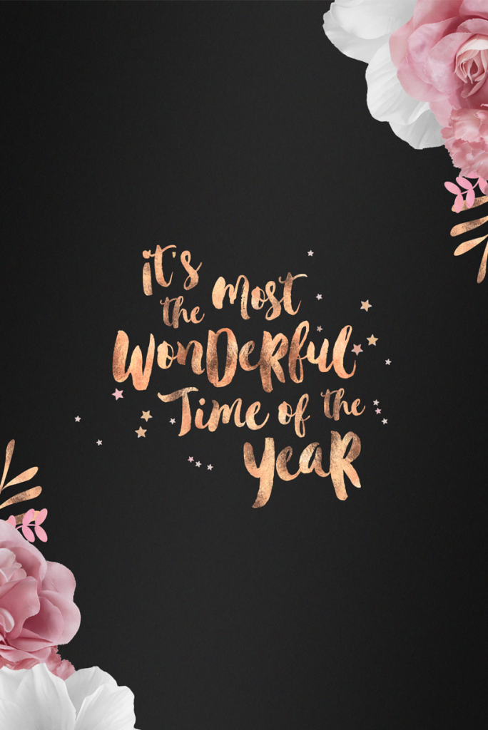 Free Rose Gold Festive Wallpapers Flip And Style