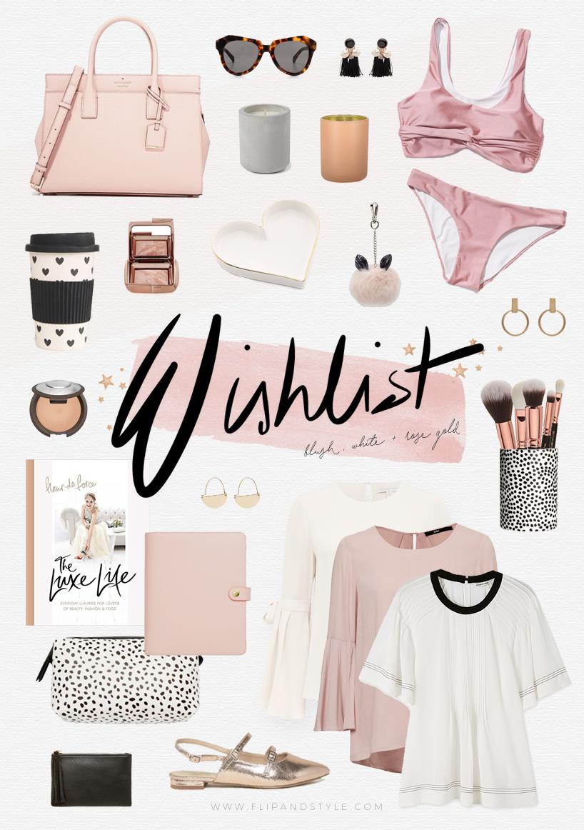 Wishlist | Blush, White & Rose Gold