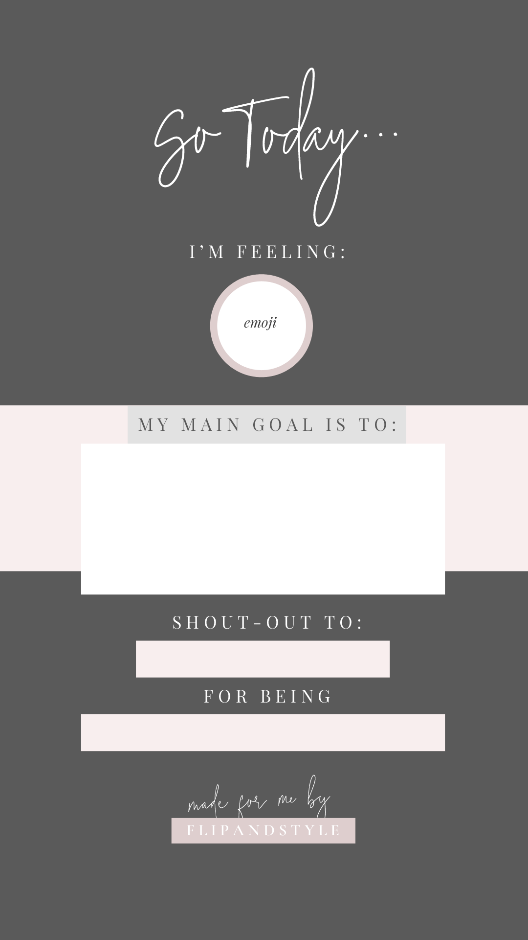 Pretty instagram story templates flip and style click on each template to see it full size save to your camera roll upload to your instagram story fill in and share ccuart Gallery