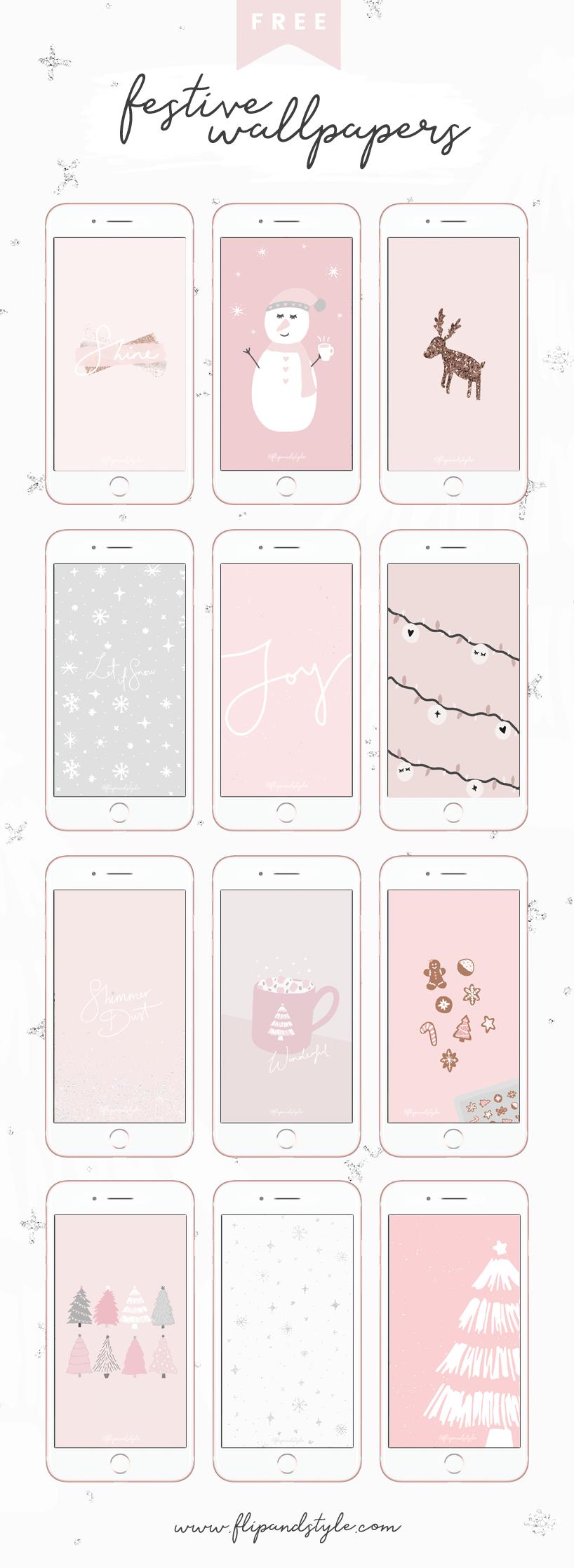 free wallpapers phone desktop christmas freebies